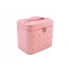 Кейс для косметики со стразами Krey Diamond (1 полка) розовый 4-1046-1 (уценка)