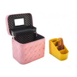 Кейс для косметики со стразами Krey Diamond (1 полка) розовый 4-1046-1