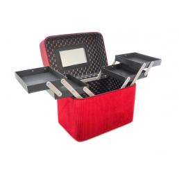Кейс для косметики Calmi Delight Red (4 полки) 4-1052-2 Красный
