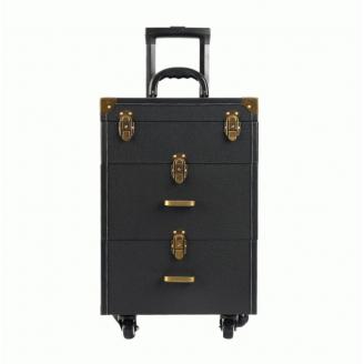 Мобильный чемодан визажиста на колесах Calmi Belle HUB 7-1041-2 Черный