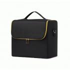 Кейс для косметики в чехле с органайзером Calmi 2-1005-5 Черный (золотистая фурнитура)