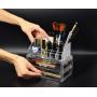 Акриловый органайзер для косметики прозрачный комод+стойка 5-1001-3