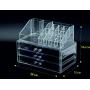 Акриловый органайзер для косметики прозрачный комод+стойка 5-1001-4
