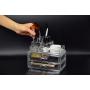 Акриловый органайзер для косметики прозрачный комод+стойка 5-1001-7