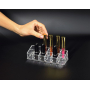 Акриловый органайзер для косметики прозрачный 12 слотов (2 x 6) 5-1022-1