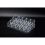 Акриловый органайзер для косметики прозрачный 15 слотов (3 x 5) 5-1031-1
