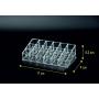 Акриловый органайзер для косметики прозрачный 18 слотов (3 x 6) 5-1032-1