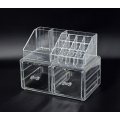 Акриловый органайзер для косметики прозрачный комод+стойка 5-1036-1