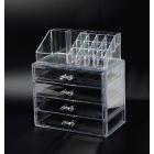 Акриловый органайзер для косметики прозрачный комод+стойка 5-1038-1