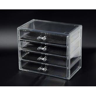 Органайзер комод 4 уровня 4 ящика прозрачный 5-1039-1
