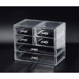 Органайзер комод 4 уровня 6 ящиков прозрачный 5-1039-2