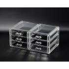 Органайзер комод 3 уровня 6 ящиков прозрачный 5-1039-4