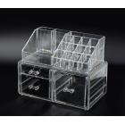 Акриловый органайзер для косметики прозрачный комод+стойка 5-1040-1
