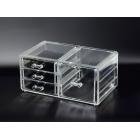 Органайзер комод 3 уровня 4 ящика (1+3) прозрачный 5-1062-1