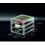Органайзер комод 3 уровня 3 ящика прозрачный 5-1063-1