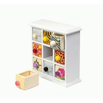 Фарфоровый органайзер для украшений и косметики Lucky Box 5-1076-1 Белый 3х3