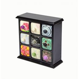 Фарфоровый органайзер для украшений и косметики Lucky Box 5-1076-2 Черный 3х3