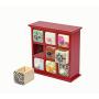 Фарфоровый органайзер для украшений и косметики Lucky Box 5-1076-3 Красный 3х3