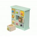 Фарфоровый органайзер для украшений и косметики Lucky Box 5-1076-4 Голубой 3х3