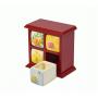 Фарфоровый органайзер для украшений и косметики Lucky Box 5-1077-1 Красный 2х2