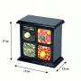 Фарфоровый органайзер для украшений и косметики Lucky Box 5-1077-2 Черный 2х2