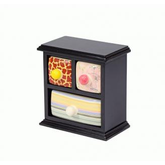Фарфоровый органайзер для украшений и косметики Lucky Box 5-1078-2 Черный 2х1