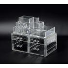 Акриловый органайзер для косметики прозрачный комод+стойка 5-1079-1