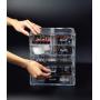 Органайзер комод 5 уровней 7 ящиков прозрачный 5-1085-1