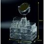 Акриловый органайзер для косметики комод+стойка с зеркалом 9-1001-5