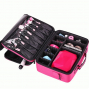 Профессиональный косметический кейс органайзер визажиста 2-1002 Ярко-розовый