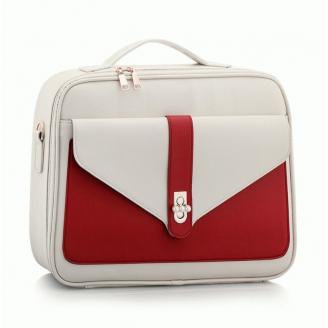 Профессиональный кейс визажиста Calmi Pure Beauty 4-1051-1 White&Red (уценка)