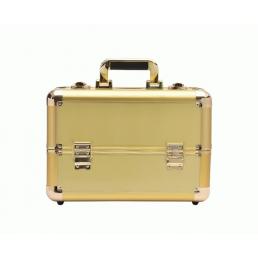 Профессиональный кейс визажиста 7-1044-3 Белое золото