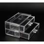 Органайзер комод 2 уровня 2 ящика прозрачный 5-1039-3