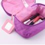 Объемная недорогая косметичка из полиэстера 3-1030 Розовая