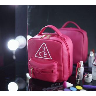 Вместительная косметичка 3 Concept Eyes с внешним карманом 4-1003-2 Малиновая