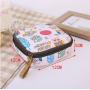 Небольшая косметичка для прокладок и салфеток с яркими сюжетами 3-1035 Цветы