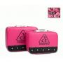Двухцветный кейс чемоданчик 3 Concept Eyes со стразами 4-1022-6 Малиновый-черный
