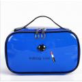 Косметичка шкатулка из лакированной кожи Kalibag Love c губками 3-1050-4 Синяя