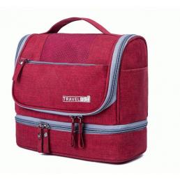 Многофункциональный водонепроницаемый дорожный несессер с отделением для полотенца 8-1007-1 Красный