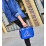 Зеркальный кейс чемоданчик для косметики 3 Concept Eyes с ремнями-фиксаторами 4-1024-3 Синий сапфир