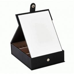 Шкатулка для украшений с большим зеркалом 3-1082-1 Черная