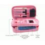 Компактная косметичка органайзер с 2-мя отделениями и зеркалом 8-1001-3 Фиолетовая