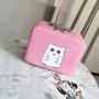 """Кейс чемоданчик для косметики """"Белая сова"""" 4-1028-1 Розовый"""