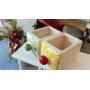 Фарфоровый органайзер для украшений и косметики Lucky Box 5-1078-1 Красный 2х1