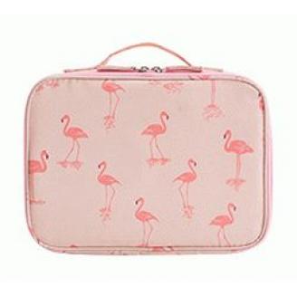 Косметичка кейс для путешествий 1-1010 Фламинго