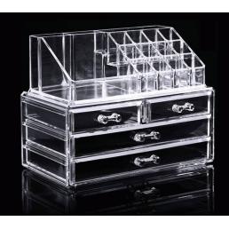 Акриловый органайзер для косметики прозрачный комод+стойка 5-1001-1