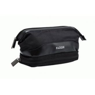 Мужская косметичка с карманом для полотенца Fadish 1-1013-4 Черная