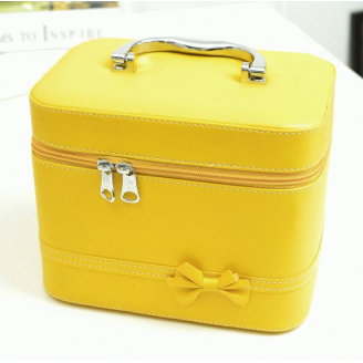 Кейс сундучок с бантиком-бабочкой (большой) 4-1036-5 Желтый