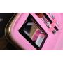 Зеркальный кейс чемоданчик для косметики 3 Concept Eyes с ремнями-фиксаторами 4-1024-6 Малиновый