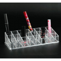 Акриловый органайзер для косметики прозрачный 24 слота (3 x 8) 5-1006-2